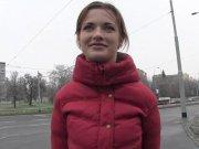 Смешная чешка согласилась на пикап секс