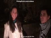 Русское ночное порно с пикаперами на улице