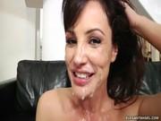 Лиза Энн залита спермой